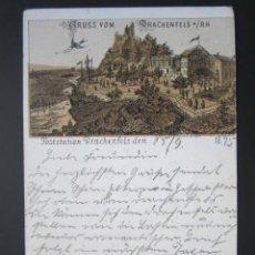Postales: ANTIGUA POSTAL GRUSS AÑO 1895. PRIMERA EDICIÓN. ORIGINAL DE ÉPOCA. EXCELENTE CONSERVACIÓN. Lote 45462133