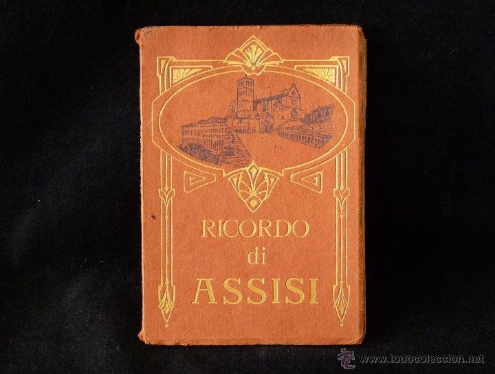 LIBRO DE 32 POSTALES DE ASIS. RICORDO DI ASSISI. CIVICCHIONI - CHIAVARI. AÑOS 50 (Postales - Postales Extranjero - Europa)