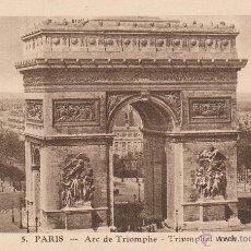 Postales: Nº 14966 POSTAL PARIS ARC DE TRIOMPHE FRANCIA. Lote 45935727