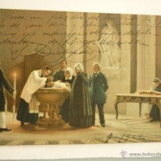 Postales: STENGEL & CO. DRESSDEN. ESCRITA AÑO 1912. LE BAPTÉME E, RENARD. Lote 46190333
