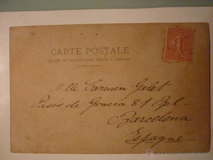 Postales: FRANCIA CIRCULADA AÑOS 10. ARTISTA MAY PAGE. FOTOGRAFÍA REUTLINGER. PARÍS - Foto 2 - 46194441
