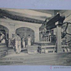 Postales: EXPOSITION DE BRUXELLES 1910.- PAVILLON MOËT ET CHANDON. Lote 46388338