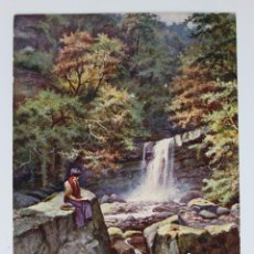 Postales: P- 37. POSTAL WALES, THE LADY FALL, GLYNNEATH - RAPHAEL TUCK OILETTE. Lote 46482653