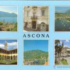 Postais: ASCONA, CANTÓN TESINO (SUIZA), DIVERSOS ASPECTOS - ED. ALFA Nº 1285 - SIN CIRCULAR. Lote 46523044