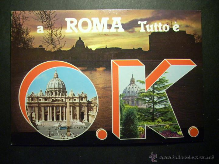 8452 ITALIA ITALY LAZIO ROMA ROME POSTCARD POSTAL AÑOS 60/70 - TENGO MAS POSTALES (Postales - Postales Extranjero - Europa)