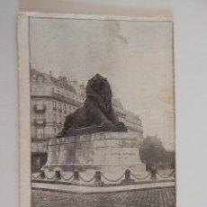 Postales: PARIS: LE LION DE BELFORT. Lote 46613548
