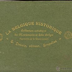 Postales: 2 ALBUM DE LA BELGIQUE HISTORIQUE PUBLISHED BY DESAIX, BRUSSELS. Lote 46797396