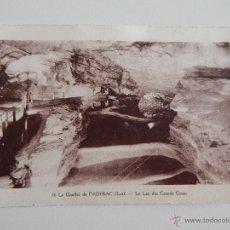Postales: LE GOUFFRE DE PADIRAC (LOT.): LE LAC DES GRANDS GOURS. Lote 47054756