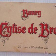Postales: BLOK-POSTAL CON 20 VISTAS DIFERENTES FRANCESAS BOURG EGLISE DE BROU 1929 15 X 9 CM . Lote 47155871