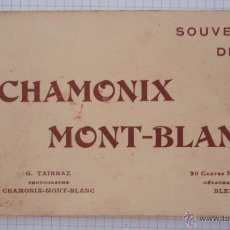 Postales: BLOK-POSTAL CON 9 VISTAS DIFERENTES ANTIGUAS FRANCESAS CHAMONIX MONT-BLANC15 X 9 CM. Lote 47156035
