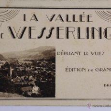 Postales: BP-23. LIBRITO 12 POSTALES DESPLEGABLES LA VALLÉE DE WESSERLING. BRAUN & CIA. AÑOS 30.. Lote 47203016