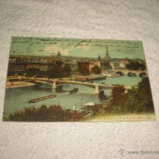 Cartes Postales: PARIS.PANORAMA SUR LA SEINE PRIS DU PONTDES ARTS. CIRCULADA 1910. Lote 47308202