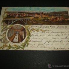 Postales: BERNA BERNE SUIZA HOTEL BELLE VUE POSTAL CROMOLITOGRAFICA 1902 TIPO GRUSS AUSS. Lote 47417544