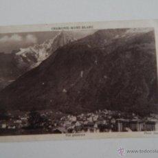 Postales: CHAMONIX-MONT-BLANC: VUE GÉNÉRALE. Lote 47503119