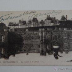 Postales: FONTAINEBLEAU: LA CASCADE ET LE CHÂTEAU. Lote 47507571