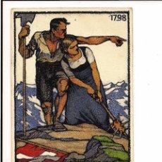 Postales: CARTA POSTAL MANUSCRITO DE LA FIESTA NACIONAL DE 1913 SUIZA. Lote 47703986