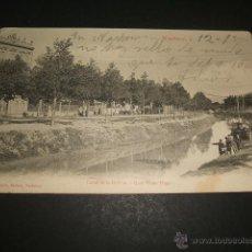 Postales: NARBONNE CANAL DELA ROBINE QUAI VICTOR HUGO. Lote 47802750