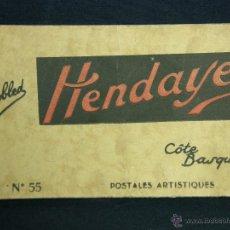 Postales: ALBUM DE 20 POSTALES Nº 55 HENDAYE HENDAYA (BASSES-PYRÉNÉES) ED PHOTOTYPIE MARCEL DELBOY FOT YOBLED. Lote 48300448