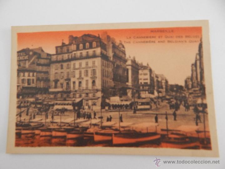 MARSEILLE: LA CANNEBIÈRE ET QUAI DES BELGES (Postales - Postales Extranjero - Europa)