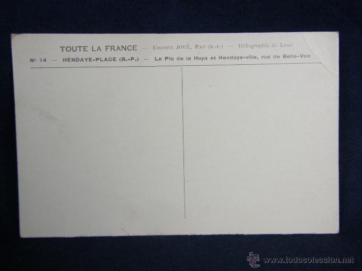 Postales: postal sin circular nº 14 Hendaya vue de belle-vue le pic de la haya et Hendaye-ville ed Jové - Foto 2 - 48319741