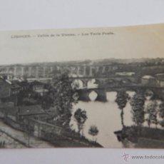Postales: LIMOGES: VALLÉE DE LA VIENNE. LES TROIS PONTS. Lote 48336505