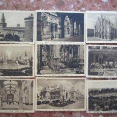 Postales: LOTE DE 20 POSTALES MILANO 1920. Lote 48354685