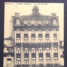Postales: BRUXELLES. L'HÔTEL SCHEERS. VU DE FACE. COLLECTION DU GRAND HÔTEL SCHEERS.. Lote 48380102