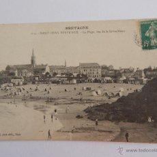 Postales: SAINT-QUAY-PORTRIEUX: LA PLAGE, VUE DE LA GRÈVE-NOIRE. Lote 48424012