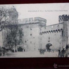 Postales: ANTIGUA POSTAL DE PERPIGNAN (FRANCIA). LE CASTILLET ET PORTE NOTRE-DAME. EDIT. COUDERC. SIN CIRCULAR. Lote 48429200