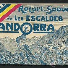 Postales: BLOC DE 22 POSTALES. RECORT SOUVENIR DE LES ESCALDES D'ANDORRA. 1920?.. Lote 48531592