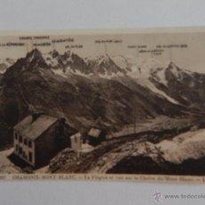 Postales: CHAMONIX-MONT-BLANC: LA FLÉGÈRE ET VUE SUR LA CHAÎNE DU MONT-BLANC. Lote 48552949