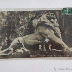 Postales: BELFORT: LE LION. Lote 48593756