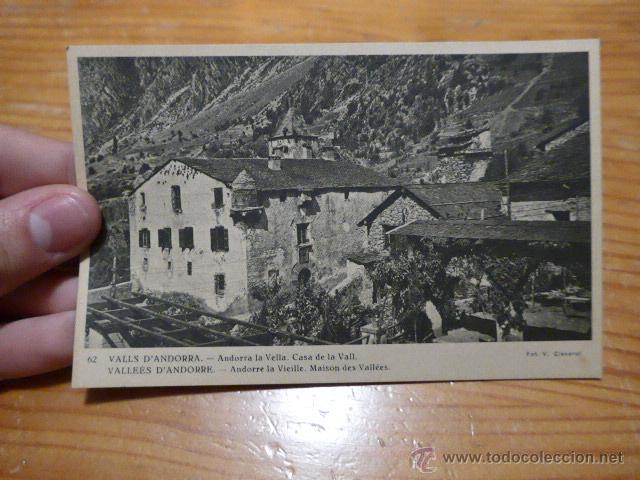 ANTIGUA POSTAL DE VALLS D' ANDORRA (Postales - Postales Extranjero - Europa)