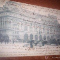 Postales: PARIS - LA GARE SAINT LAZARE. Lote 48746713