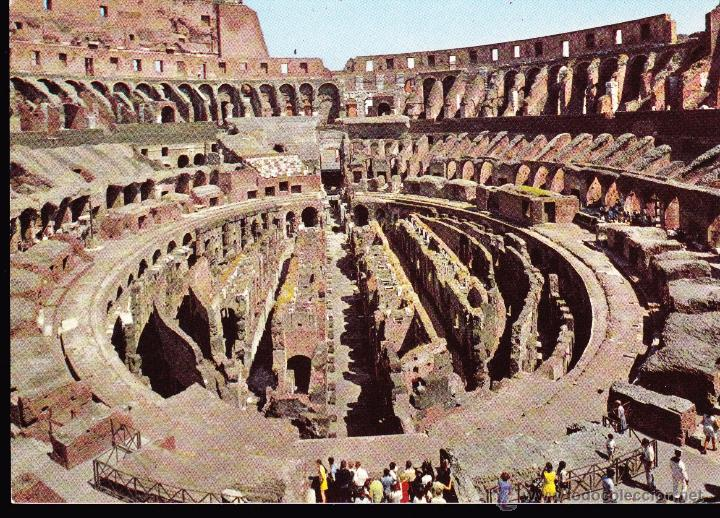 POSTAL : ROMA , INTERNO COLOSSEO . (Postales - Postales Extranjero - Europa)