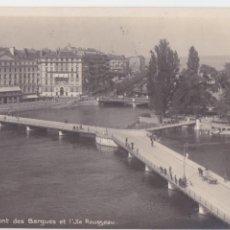 Postales: P- 892. POSTAL FOTGRAFICA DE GENEVE, PONT DES BERGUES.. Lote 48852494