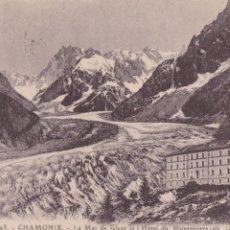 Postales: P- 893. POSTAL FOTOGRAFICA DE CHAMONIX. LA MER DE GLACE ET HOTEL DU MONTENVERS.. Lote 48852532