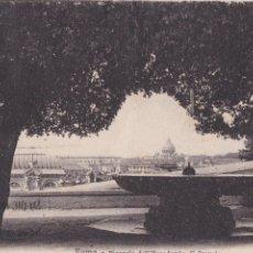 Postales: P- 901. ANTIGUA POSTAL FOTOGRAFICA DE ROMA. PIAZZALE DELL'ACADEMIA DI FRANCIA. PRINCIPIOS S.XX.. Lote 48862550