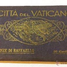 Postales: ALBUM COMPLETO 20 CARTULINAS CITTA DEL VATICANO. STANZE DI RAFFAELLO.. Lote 49024309