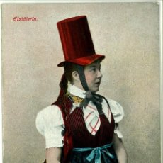 Postales: POSTAL MUJER SELVA NEGRA ALEMANIA ELZTÄLERIN AÑO 1910 SIN CIRCULAR. ETNOLOGIA. Lote 49024989
