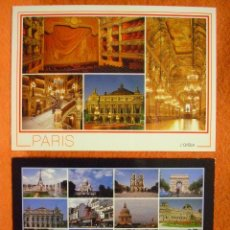 Postales: POSTAL - 2 POSTALES DE PARÍS (FRANCIA): ÓPERA Y VISTAS VARIADAS, AÑOS 90. SIN CIRCULAR.. Lote 49030107