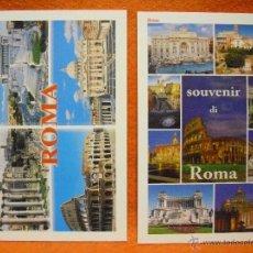 Postales: POSTAL - 2 POSTALES DE ROMA (ITALIA): VISTAS VARIADAS, AÑOS 90. SIN CIRCULAR.. Lote 49054098