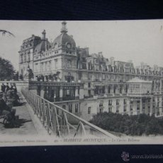 Postales: POSTAL 49 BIARRITZ ARTISTIQUE LE CASINO BELLEVUE COLLECTION GORCE TALENCE 5 9 1909 BIARRITZ MADRID. Lote 49076854