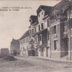 Postales: P- 1055. POSTAL FOTOGRAFICA DE AMBLETEUSE, GROUPE DE VILLAS.. Lote 49238321
