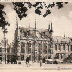 Postales: BRUGES (BELGICA), L'HÔTEL DE VILLE ET BASILIQUE DU ST.SANG - ED.THILL - SIN CIRCULAR. Lote 49450962