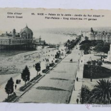 Postales: P-1997 POSTAL FOTOGRAFICA. COTE D'AZUR. 65. NICE - PALAIS DE LA JATEE. JARDIN DU ROI ALBERT. Lote 50188119