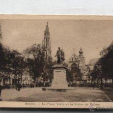 Postales: ANVERS.- LA PLACE VERTE ET LA STATUE DE RUBENS.. Lote 50362972
