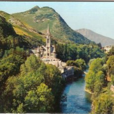 Postales: LOURDES (FRANCIA), LA BASÍLICA Y GAVE - EDITIONS P. DOUCET Nº 51BIS - SIN CIRCULAR. Lote 50403596