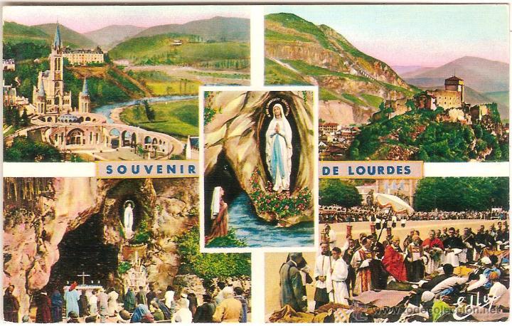 LOURDES (FRANCIA), DIVERSOS ASPECTOS - EDITIONS P. DOUCET Nº 2BIS - SIN CIRCULAR (Postales - Postales Extranjero - Europa)