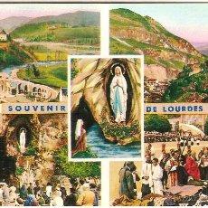Postales: LOURDES (FRANCIA), DIVERSOS ASPECTOS - EDITIONS P. DOUCET Nº 2BIS - SIN CIRCULAR. Lote 50403806